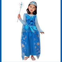 hot sale 3 pcs girls wear halloween costumes wholesale and customize snowflake costumes