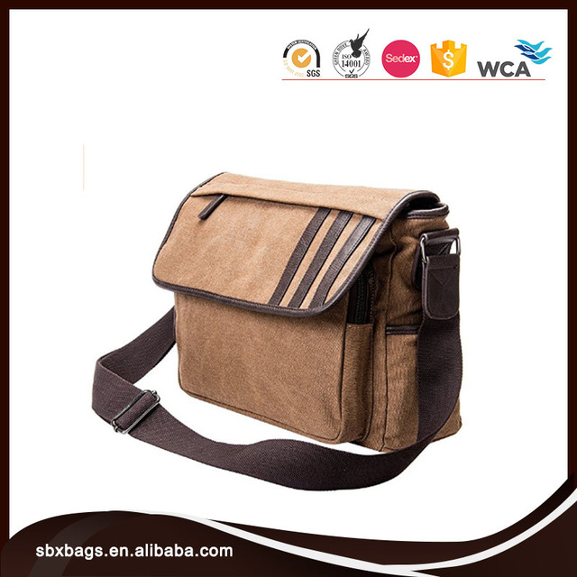 High Quality Canvas Messenger School Bag For Teenager