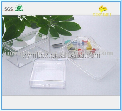 Clear Plastic Transparent Compartment Box packaging for gift/jewelry