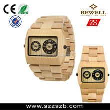 Best factory Price and new design japan movt Wooden wristwatch with Fast Delivery time