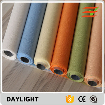 100% Polyester Customized Semi-transparent Finished Roller Blind Shade