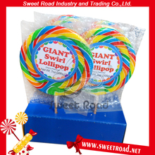 Rainbow Round and Flat Lollipop