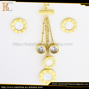 bridal jewelry set new style dropping necklace and earrings imitation jewelry sets