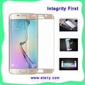 2015 Hot Selling 2.5D 9H 0.3mm Tempered-glass 3D Curved Full-Screen HD for Samsung Galaxy S6 Edge Screen Protector