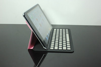 Ultra Thin Metal Aluminum Bluetooth Keyboard Stand Leather Case Cover For iPad Mini