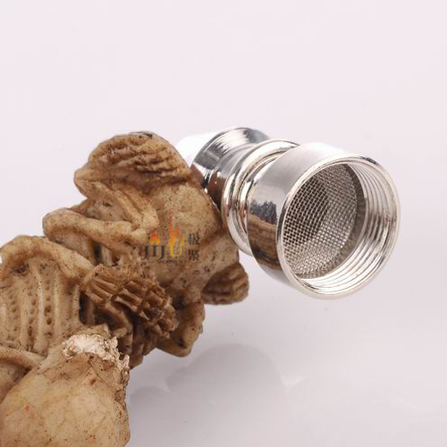 Yiwu Jiju JL-032 decorative smoking pipe custom logo metal with resin tobacco smoking pipe
