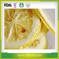 Cheap Price FD Fruits 100% Natural Freeze Dried Lemon Slice For Drinks