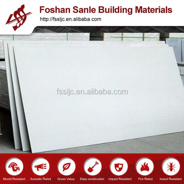 1220*2440 white color Calcium Silicate Partition Wall