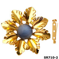 new wholesale metal decortative flower scarf ring clip(SR710-2)