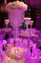 Large table top crystal chandelier flower stands centerpieces for weddings