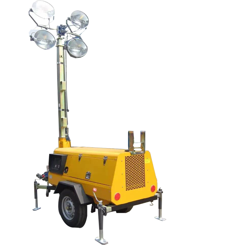 Construction equipment mobile flood light