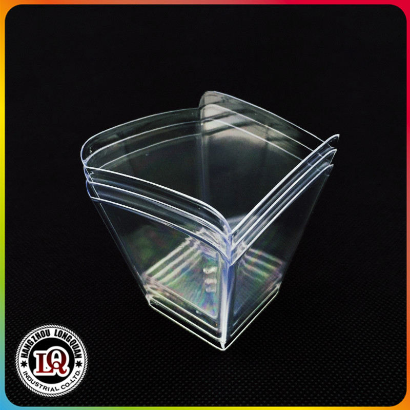 Disposable square mini plastic dessert cups