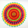 "2 set of 6 Vibrant Bright Colors Hanging Paper Fans Rosettes Party Decoration 8"" 12"" 16"" Various Sizes"