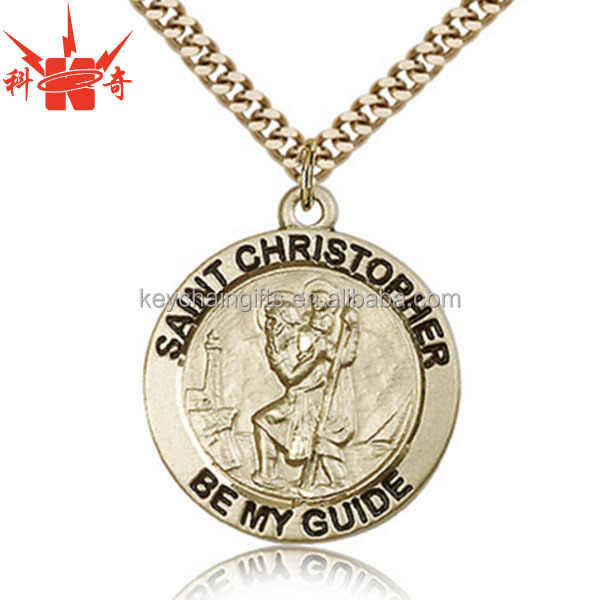 Souvenir Cheap Custom Metal ST Christopher Medal