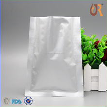silver aluminum foil zip lock bag/ resealable aluminum foil food packaging bag for dry fruit piece/coffee