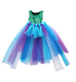 Party Kids Baby Girl Dress Mermaid Tops Bodysuit+Tulle Tutu Skirts Outfits Set