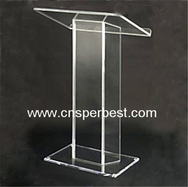 OEM/ODM clear acrylic podium pulpit lectern