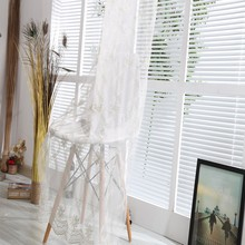 Royal beauty handmade embroidered white sheer lace curtains for salon curtains