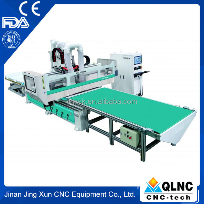 high configuration cnc wood cutting machine, nesting cnc engraving machine with drilling head for panel furniture