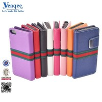 Veaqee fancy design stand wallet case for iphone 6/ 6 plus