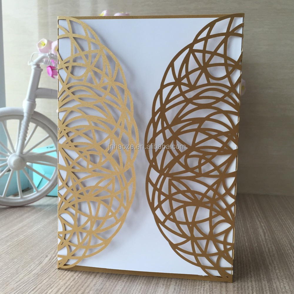 Wholesale personalize free printable party <strong>Decoration</strong> supply Elegant Hollow Laser Cut Wedding Invitations Card business card