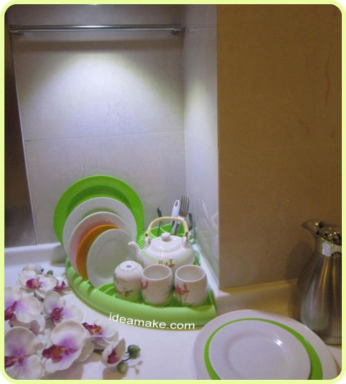 Kitchen Accessory 3 in 1 corner plate organizer 2015 New Products
