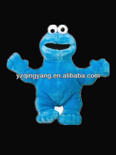 New arrival stuffed animal cute and fashion soft plush blue big eye monster toy for kid