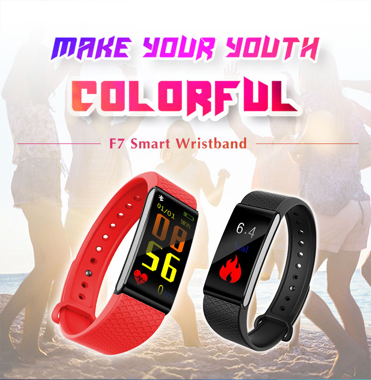 Tufen Band F7 smart band with heart rate step tracker fitness wrist band