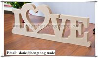 Custom Wedding wood decor ,home decoration wooden craft ,wooden MDF alphabet letter connected wood pieces