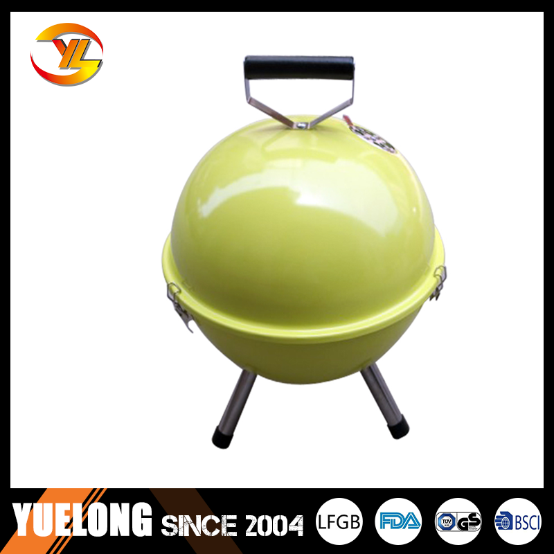 Outdoor charcoal bbq grill/Camping built in bbq with colorful grill