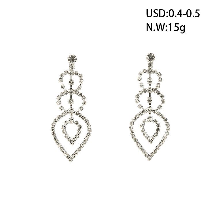 wayzi brand 2017 best selling fashion earrings women in zinc alloy jewelry rhinestone crystal earrings