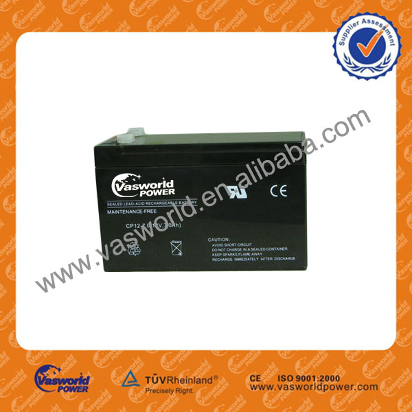 12-volt 7.2 ah sla sealed lead acid battery