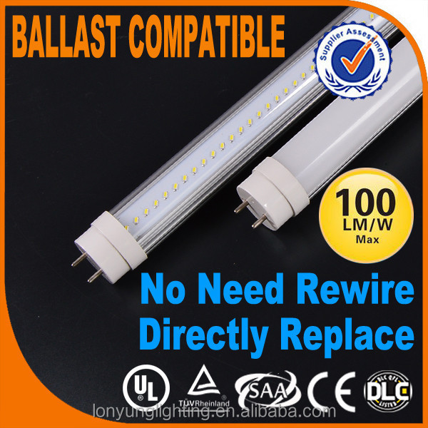 Hot sale ETL SAA TUV CE listed ballast and starter compatible t8 led tube light,electronic ballast compatible t8 led tube