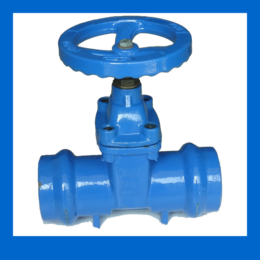 Handwheel operated Socket Gate Valve for 75mm PVC Pipes