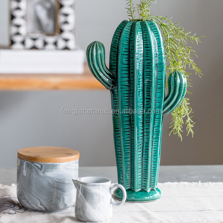 Creative ceramic cactus decoration for home decorative
