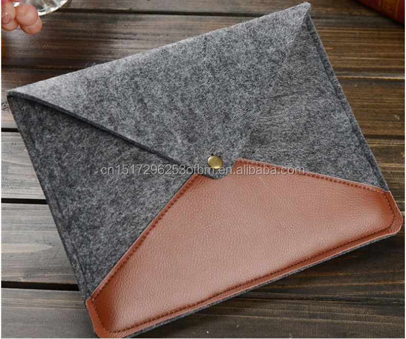 Wool Felt Liner Sleeve Computer Bag 12 13 15 inch Laptop Bag Waterproof Case for macbook air