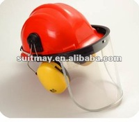 Safety Helmet and Clear Visor and Ear Muffs Combination Kit