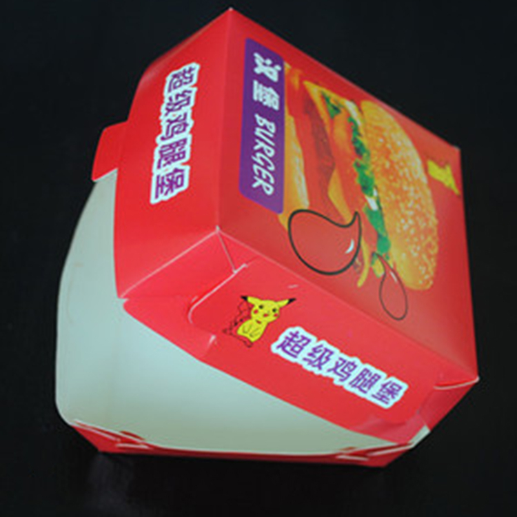 Paper hamburger boxes, burger box, takeaway container