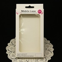Custom Wholesale Paper Box for Smart Phone Case Packaging with PVC Window and Tray