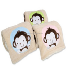 Wholesale monkey cotton muslin swaddle blanket fabric baby blanket