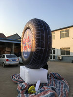 giant logo printing inflatable tire model