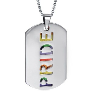 Wholesale Stainless Steel Pendant with Ball Chain Gay Pride Necklace