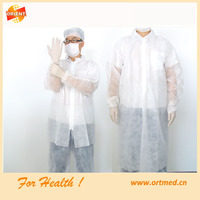 disposable ppe gowns with knitted cuff for lab room