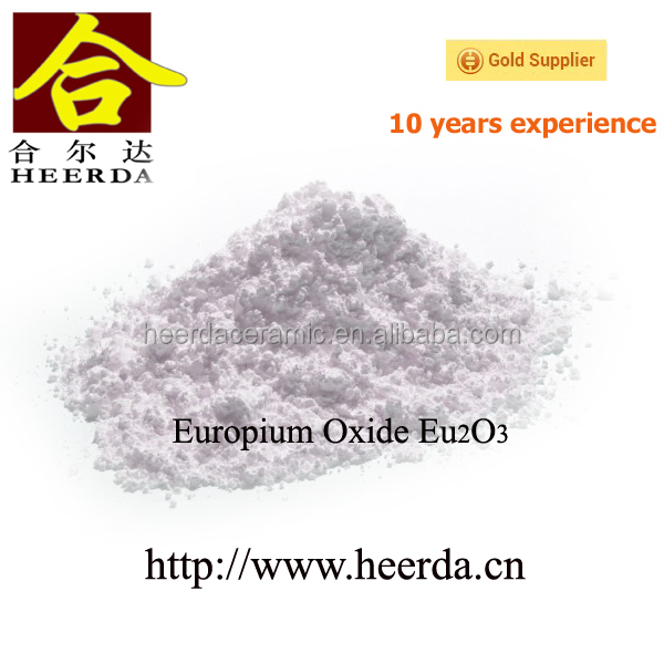 Europium oxide fluorescent phosphor powder