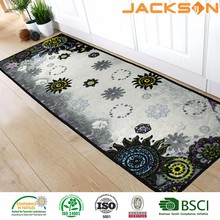 Factory direct super soft polyester kitchen runner rug washable