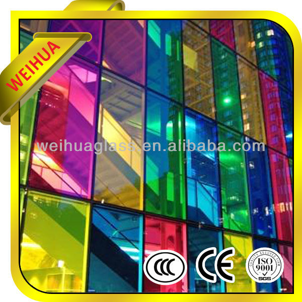 Color Tempered Laminated Glass Manufactory With CE/ISO/SGS/CCC