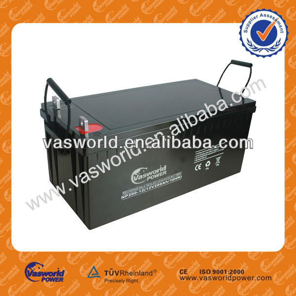 Factory price 12v 200ah rechargeable lead acid battery