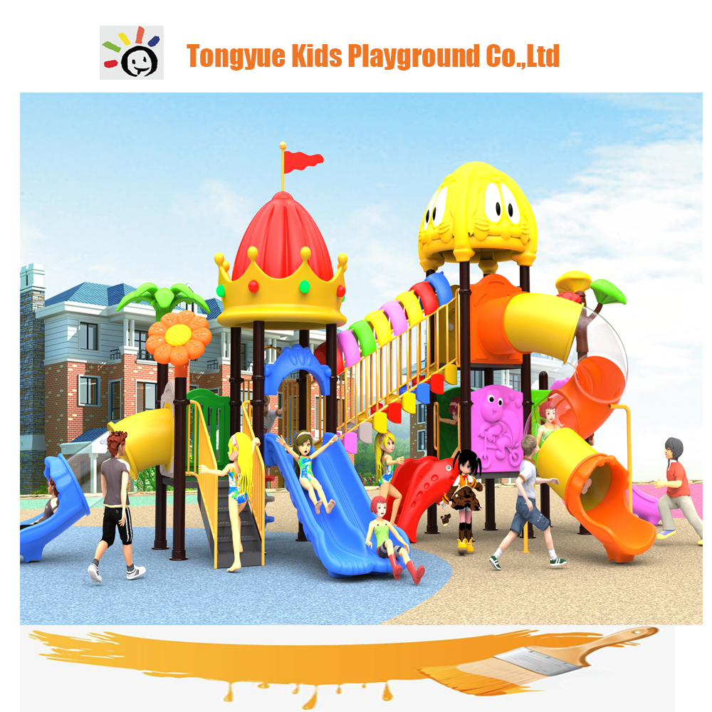 New product outdoor kids plastic playsets child swings outdoor for sale