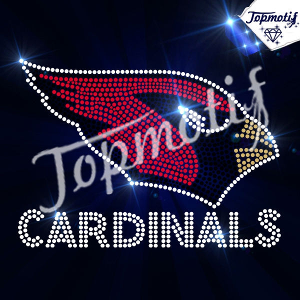 CARDINALS team symbol crystal stones for clothing