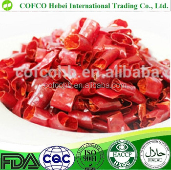 Cutted dried red pepper
